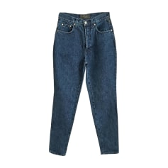 Straight Leg Jeans VERSACE Blue, navy, turquoise