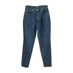 Jeans droit VERSACE Bleu, bleu marine, bleu turquoise