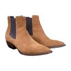 Boots SAINT LAURENT Brown