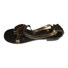 Sandales plates  ATELIER MERCADAL Doré, bronze, cuivre