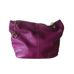 Leather Handbag LANCEL Voilet/fuschia