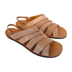 Flat Sandals CHLOÉ Beige, camel