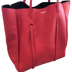 Leather Oversize Bag BALENCIAGA Red, burgundy