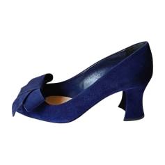 Escarpins à bouts ouverts MIU MIU Bleu, bleu marine, bleu turquoise