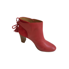 High Heel Ankle Boots SÉZANE Red, burgundy