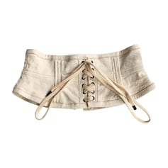 Wide Belt ISABEL MARANT White, off-white, ecru