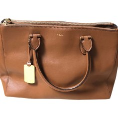 Leather Handbag RALPH LAUREN Beige, camel