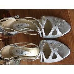 Sandales à talons ANN TUIL Argenté, acier