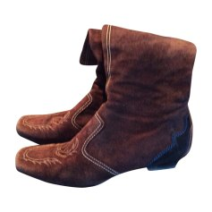 Flat Boots TOD'S Brown