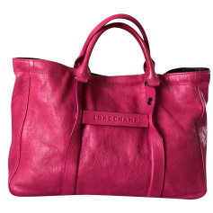 Schultertasche Leder LONGCHAMP Pink,  altrosa