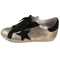 Sports Sneakers GOLDEN GOOSE Silver