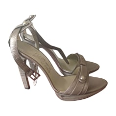 Peep-Toe Pumps SALVATORE FERRAGAMO Golden, bronze, copper