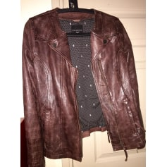 Leather Jacket CORLÉONE Red, burgundy