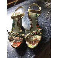 Sandales compensées REGARD Multicouleur