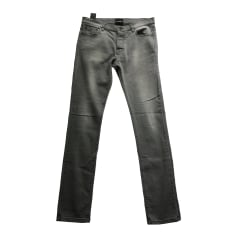 Pantalon slim THE KOOPLES Gris, anthracite