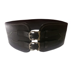Wide Belt MARITHÉ ET FRANÇOIS GIRBAUD Black