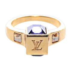 Ring LOUIS VUITTON Golden, bronze, copper