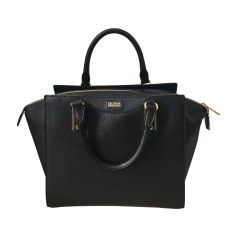 Leather Handbag HUGO BOSS Black