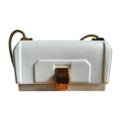 Leather Handbag LANVIN White, off-white, ecru