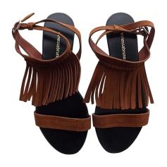 Flat Sandals VANESSA BRUNO Beige, camel