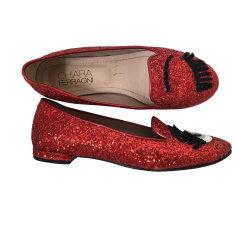Ballet Flats CHIARA FERRAGNI Red, burgundy