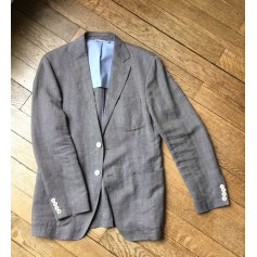 Veste de costume MASSIMO DUTTI Light gray