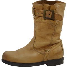 Bottines & low boots motards PALLADIUM Beige, camel