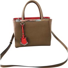 Leather Shoulder Bag FENDI Brown