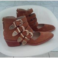 Santiags, bottines, low boots cowboy SAN MARINA Beige, camel
