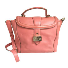 Leather Handbag LANCEL Corail