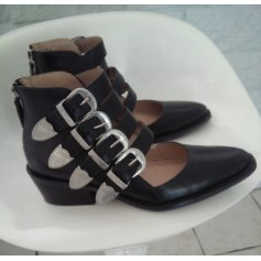 Santiags, bottines, low boots cowboy SAN MARINA Noir