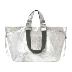 Lederhandtasche ISABEL MARANT Silberfarben, stahlfarben
