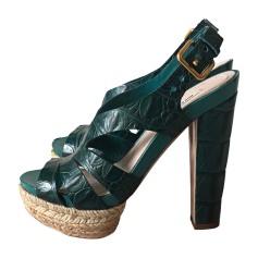 Wedge Sandals MIU MIU Green