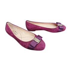 Ballet Flats SALVATORE FERRAGAMO Purple, mauve, lavender