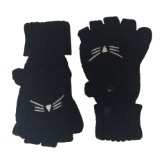 Fingerless Gloves KARL LAGERFELD Gray, charcoal