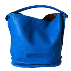 Ledertasche groß LONGCHAMP Blau, marineblau, türkisblau