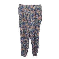 Pantalon carotte COMPTOIR DES COTONNIERS rose, vert et bleu