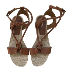 Flat Sandals RALPH LAUREN Brown