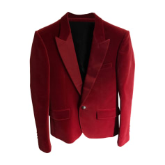 Veste de costume BALMAIN Rouge, bordeaux