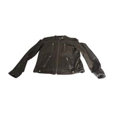 Leather Zipped Jacket MICHAEL KORS Khaki