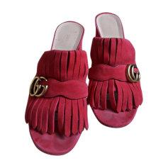 Sandales à talons GUCCI Rose, fuschia, vieux rose