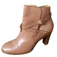 High Heel Ankle Boots SÉZANE Beige, camel