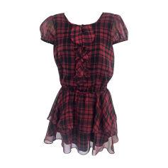 Mini Dress RALPH LAUREN Red, burgundy