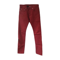 Jeans slim DIOR HOMME Rosso, bordeaux
