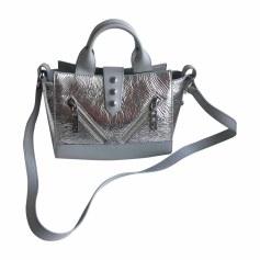 Leather Shoulder Bag KENZO Silver