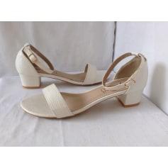 Sandales à talons LILY SHOES Blanc, blanc cassé, écru