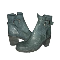 High Heel Ankle Boots FREE LANCE Green