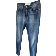 Jeans slim IRO Bleu, bleu marine, bleu turquoise