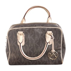Leather Handbag MICHAEL KORS Brown