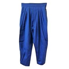 Pantalon carotte APOSTROPHE Bleu, bleu marine, bleu turquoise